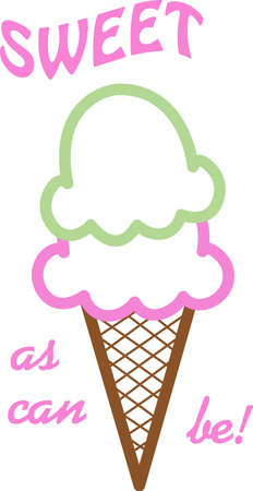 loves: Everyone loves ice cream and they will enjoy a cone on a t-shirt. Illustration