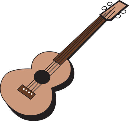 音楽家のプロジェクトのための音楽を作る。  イラスト・ベクター素材