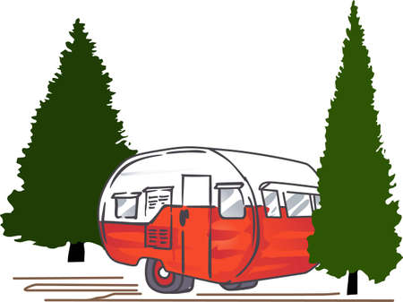 Load up, head out and run you camper through some adventure! This design is perfect on projects for your outdoor lovers.