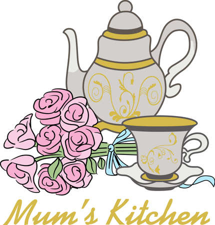 tea set: Tea set Illustration