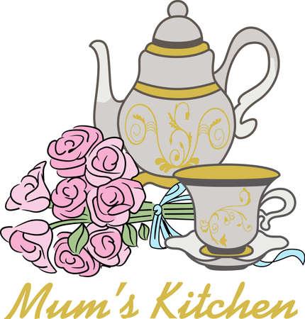 Tea set Ilustracja