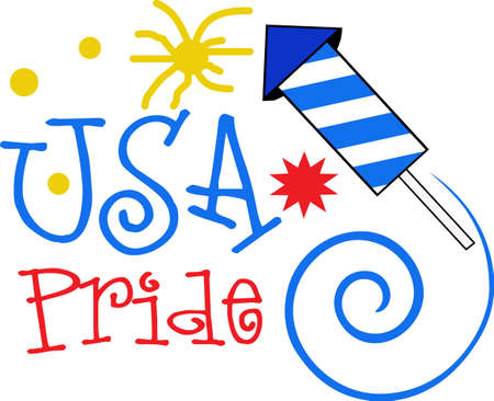 Show off your patriotic side by wearing this design on t-shirts, scarves, hats and more for Independence Day!