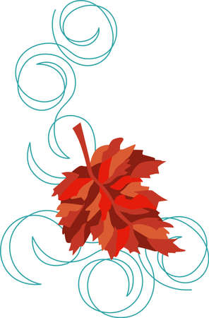 Fall leaves are some of nature's showiest treasures and will be make pretty decorations as corners and frames on towels, pillows, sweatshirts and more!
