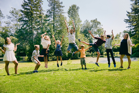 Happy children having fun during summer vacations Stock fotó