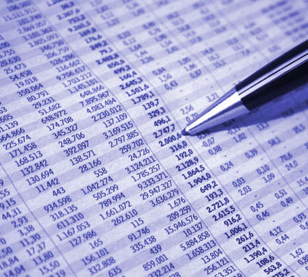Financial report Stock Photo - 4017191