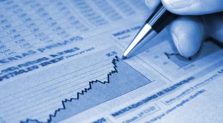 show bill: Financial report Stock Photo
