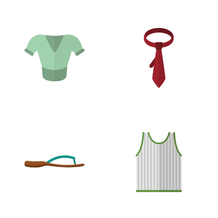 Flat Garment Set Of Cravat, Casual, Singlet And Other Objects.