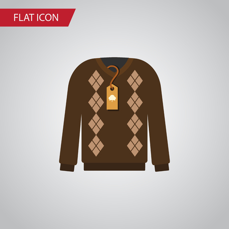 Isolated sweater flat icon.