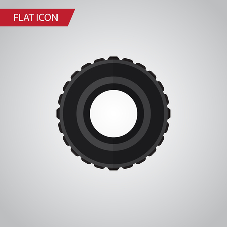 rim: Isolated Tire Flat Icon. Wheel Vector Element Can Be Used For Tire, Wheel, Car Design Concept.