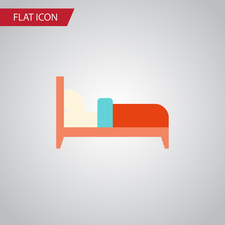 Isolated Bed Flat Icon. Bearings Vector Element Can Be Used For Mattress, Bed, Bearings Design Concept.