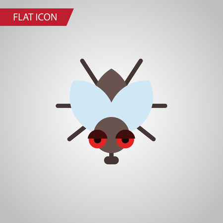 Isolated Fly Flat Icon. Buzz Vector Element Can Be Used For Fly, Insect, Buzz Design Concept.