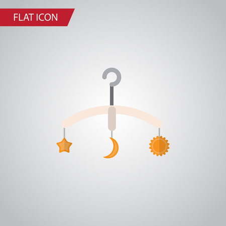Isolated Crib Flat Icon. Mobile Vector Element Can Be Used For Baby, Mobile, Crib Design Concept. Illustration