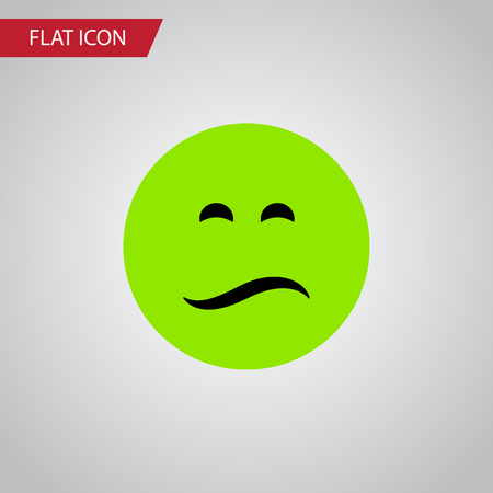 frown: Isolated Sad Flat Icon. Frown Vector Element Can Be Used For Sad, Frown, Emoji Design Concept.