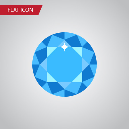 Isolated Brilliant Flat Icon. Diamond Vector Element Can Be Used For Diamond, Brilliant, Gem Design Concept.