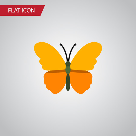danaus: Isolated Danaus Plexippus Flat Icon. Butterfly Vector Element Can Be Used For Butterfly, Monarch, Moth Design Concept.