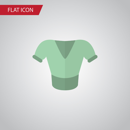 tunic: Isolated Blouse Flat Icon. Casual Vector Element Can Be Used For Shirt, Blouse, Clothes Design Concept.