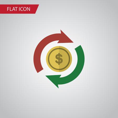 Isolated Exchange Flat Icon. Interchange Vector Element Can Be Used For Interchange, Swap, Exchange Design Concept. Illustration