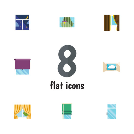 veranda: Flat Icon Frame Set Of Glazing, Glass, Clean And Other Vector Objects. Also Includes Window, Glass, Balcony Elements.