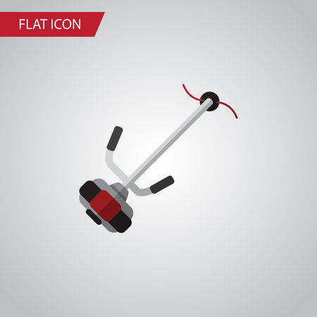 grass blades: Isolated Lawn Mower Flat Icon. Grass-Cutter Vector Element Can Be Used For Lawn, Mower, Cutter Design Concept.