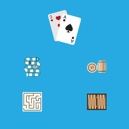 backgammon: Flat Icon Play Set Of Dice, Multiplayer, Lottery And Other Vector Objects. Also Includes Multiplayer, Labyrinth, Backgammon Elements.