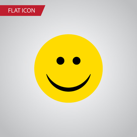 Isolated Smile Flat Icon. Joy Vector Element Can Be Used For Joy, Smile, Face Design Concept.