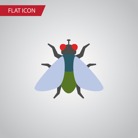 Isolated Buzz Flat Icon. Fly Vector Element Can Be Used For Fly, Insect, Buzz Design Concept. Ilustracja
