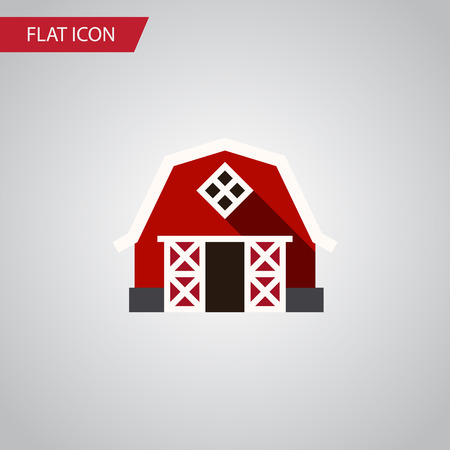 farmstead: Isolated Barn Flat Icon. Farmhouse Vector Element Can Be Used For Farmhouse, Ranch, Barn Design Concept. Illustration