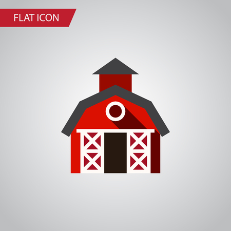 hangar: Isolated Farmhouse Flat Icon. Barn Vector Element Can Be Used For Farmhouse, Ranch, Barn Design Concept. Illustration