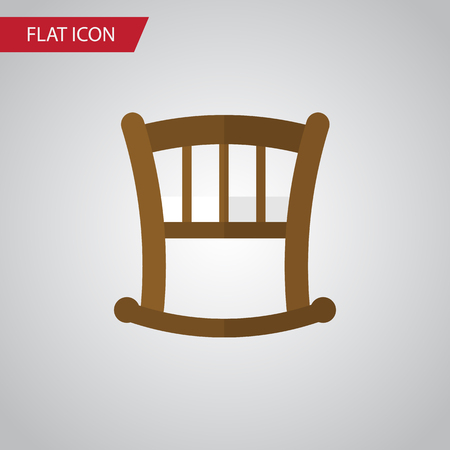 Isolated Bed Flat Icon. Infant Cot Vector Element Can Be Used For Infant, Cot, Bed Design Concept.