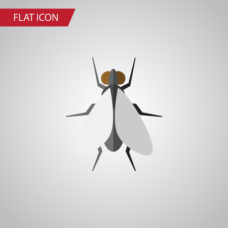 Isolated Insect Flat Icon. Hum Vector Element Can Be Used For Insect, Fly, Hum Design Concept.