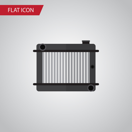 Isolated Radiator Flat Icon. Heater Vector Element Can Be Used For Radiator, Heater, Thermostat Design Concept. Illustration