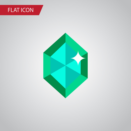 Isolated Gem Flat Icon. Crystal Vector Element Can Be Used For Gem, Crystal, Diamond Design Concept.