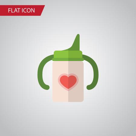 nursing bottle: Isolated Infant Nutrition Flat Icon. Nursing Bottle Vector Element Can Be Used For Nursing, Baby, Bottle Design Concept. Illustration