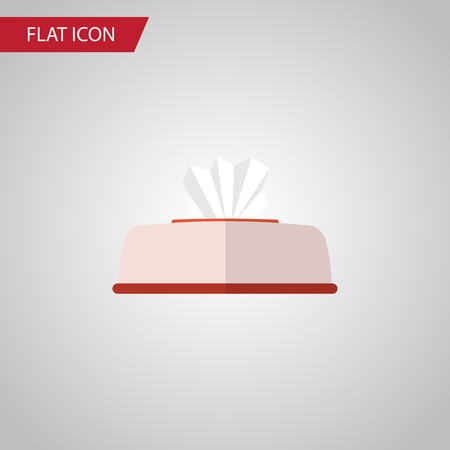Isolated Napkin Box Flat Icon. Tissue Vector Element Can Be Used For Napkin, Box, Tissue Design Concept.