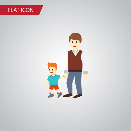 Isolated Brothers Flat Icon. Boys Vector Element Can Be Used For Brother, Boy, Men Design Concept.