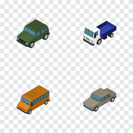 car speed: Isometric Car Set Of Armored, Lorry, Auto And Other Vector Objects. Also Includes Transport, Lorry, Truck Elements.