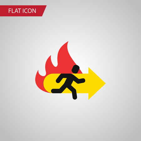 doorknob: Isolated Emergency Flat Icon. Fire Exit Vector Element Can Be Used For Emergency, Fire, Exit Design Concept. Illustration