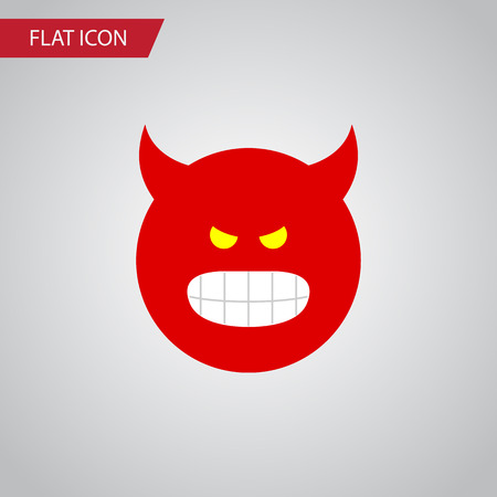 enraged: Isolated Angry Flat Icon. Pouting Vector Element Can Be Used For Pouting, Angry, Smile Design Concept.