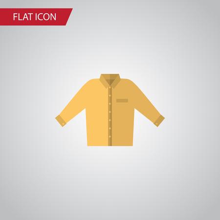 Isolé icône plate de chemise. Élément de vecteur Banyan peut être utilisé pour la chemise, Banyan, Concept de design de l'homme. Banque d'images - 82094682
