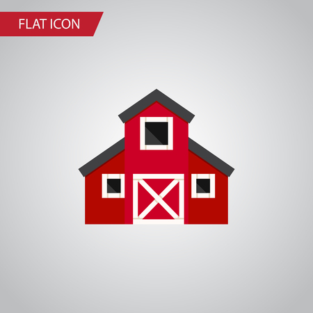 farmstead: Isolated Greenhouse Flat Icon. Storehouse Vector Element Can Be Used For Greenhouse, Barn, Storehouse Design Concept.