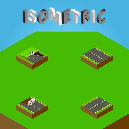 Isometric Way Set Of Flat, Repairs, Underground And Other Vector Objects. Also Includes Flat, Repairs, Construction Elements.
