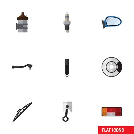 conrod: Flat Icon Auto Set Of Absorber, Windshield, Input Technology And Other Vector Objects. Also Includes Auto, Combustion, Metal Elements.