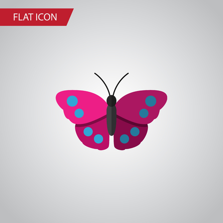 Isolated Violet Wing Flat Icon. Archippus Vector Element Can Be Used For Archippus, Butterfly, Monarch Design Concept. Illustration