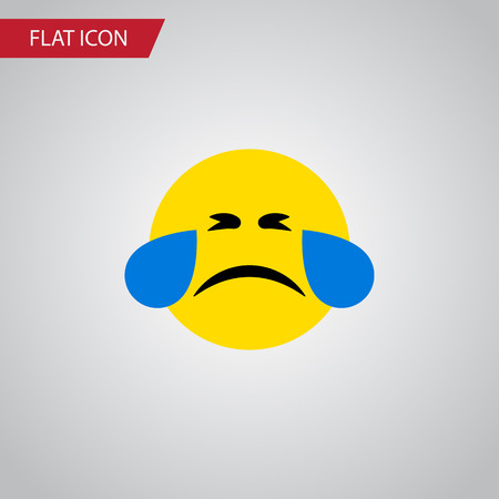 quandary: Isolated Tears Flat Icon