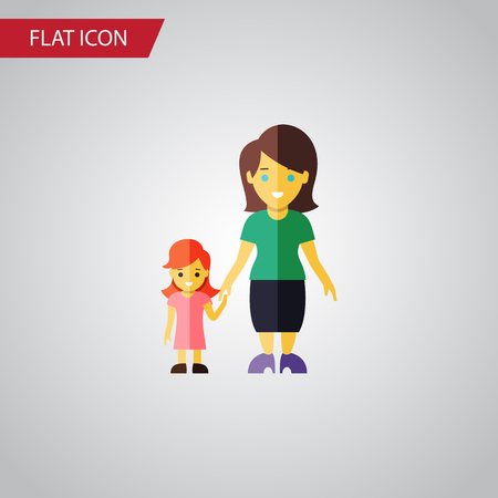 Isolated Mother Flat Icon