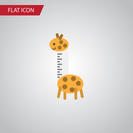 camelopard: Isolated Giraffe Flat Icon. Toy Vector Element Can Be Used For Giraffe, Toy, Baby Design Concept.