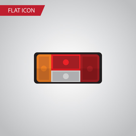 Isolated Taillight Flat Icon. Headlight Vector Element Can Be Used For Car, Taillight, Headlight Design Concept.