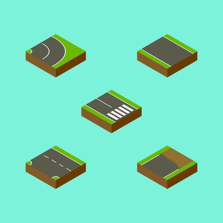 等尺性方法は、ストリップ、未完成、下方と他のベクトル オブジェクトなしのセット。歩行者、ストリップ、一方的な要素も含まれています。