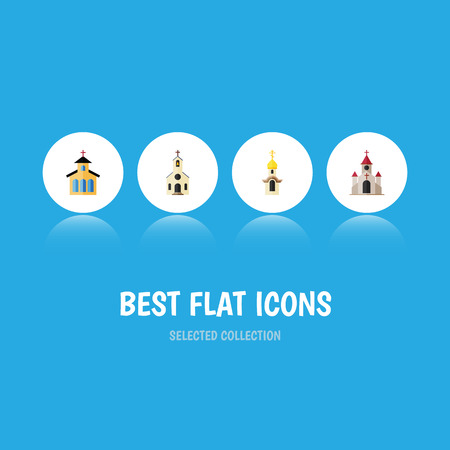 flat icon christian set of building traditional structure and royalty free cliparts vectors and stock illustration image 82402176 123rf com