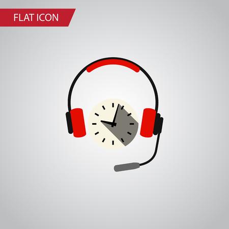Isolated Earphone Flat Icon. Headphone Vector Element Can Be Used For Earphone, Headphone, Headset Design Concept.